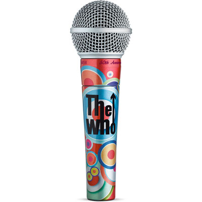 Shure SM58® The Who 50th Anniversary Limited Edition microphone
